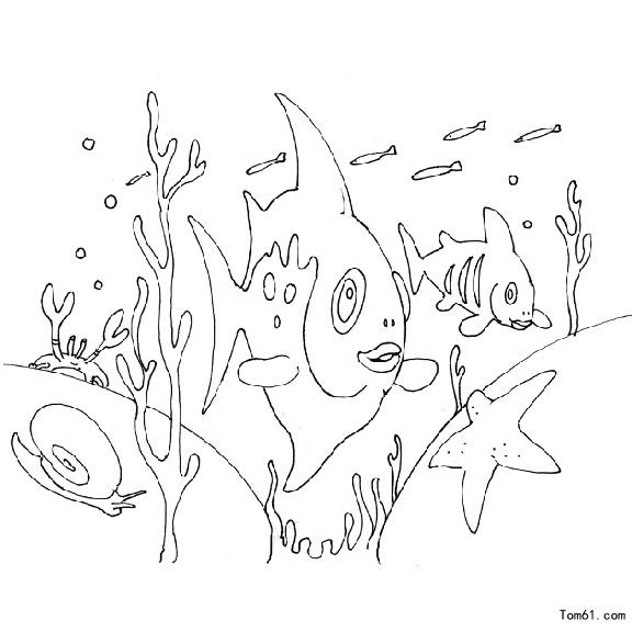 鱼4-简笔画图片-中国儿童资源网