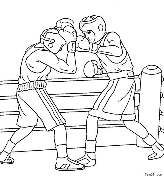 地下拳击图片手绘