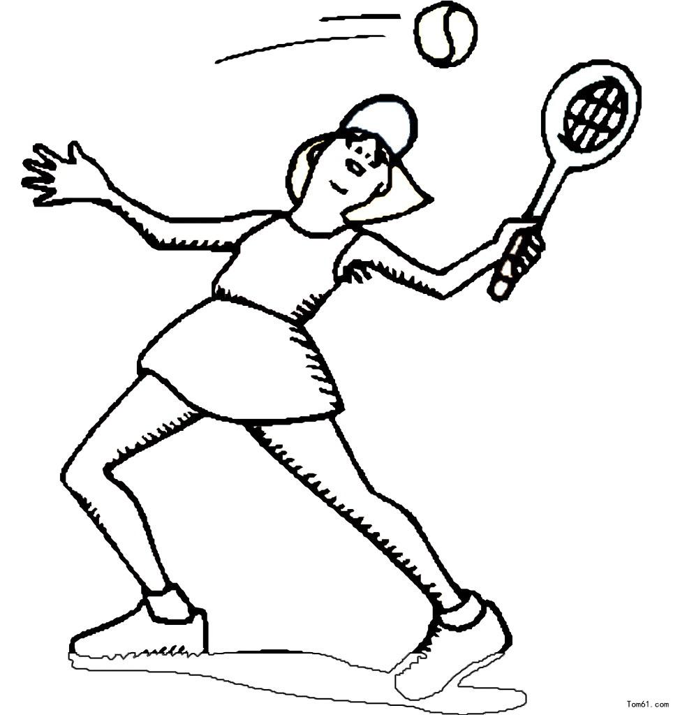 网球简笔画_网球拍简笔画教程