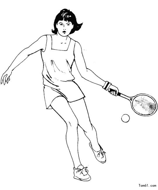 网球图片_简笔画图片_少儿图库_中国儿童资源网