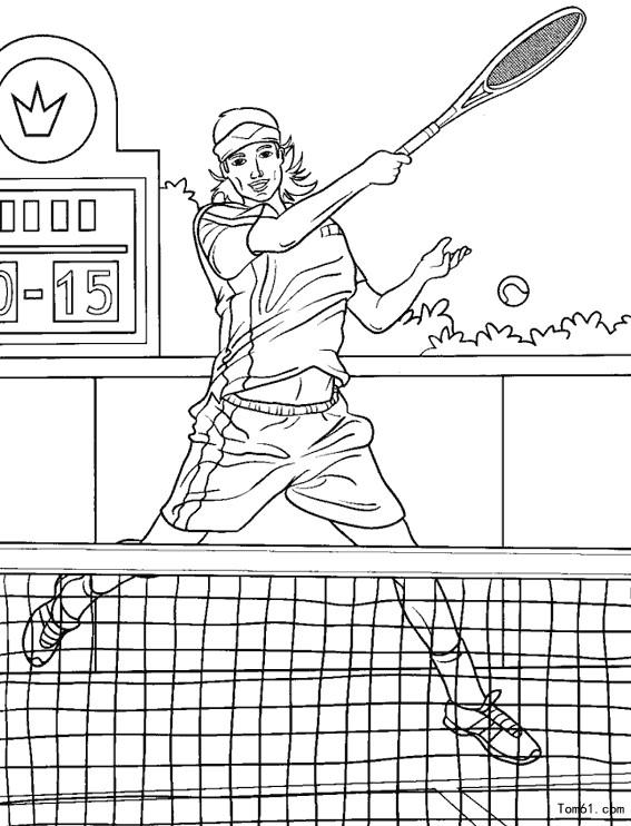 网球简笔画_黑色网球拍矢量图编号1565441_体育运动_生