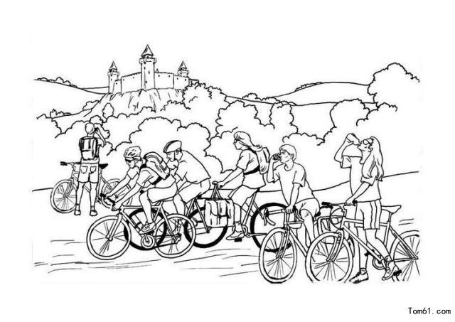 自行车图片_简笔画图片