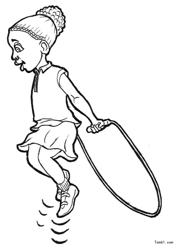 kids jumping rope coloring pages - photo#6
