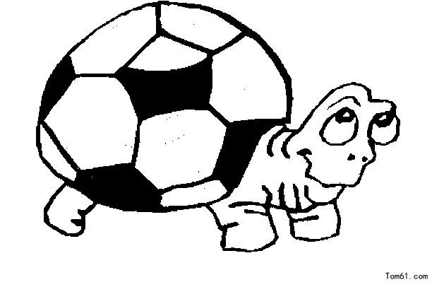 足球简笔画_足球和足球鞋简笔画_第一板报网