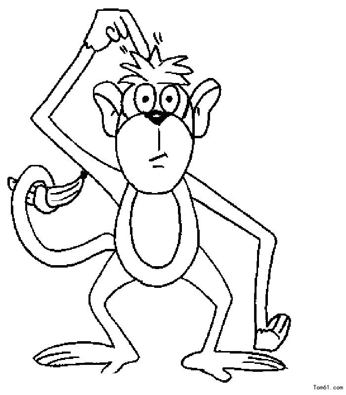 猴子图片_简笔画图片_少儿图库