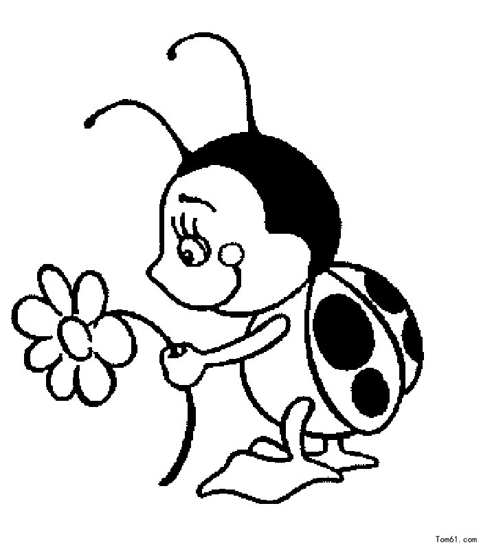 可爱卡通瓢虫矢量图
