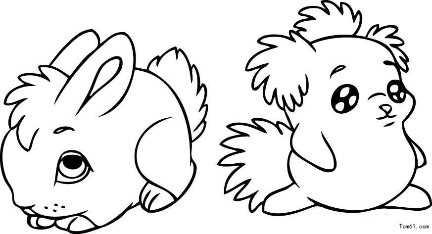 兔子-简笔画图片-中国儿童资源网