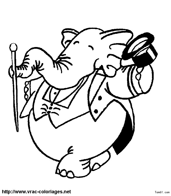 大象 老鼠矢量图