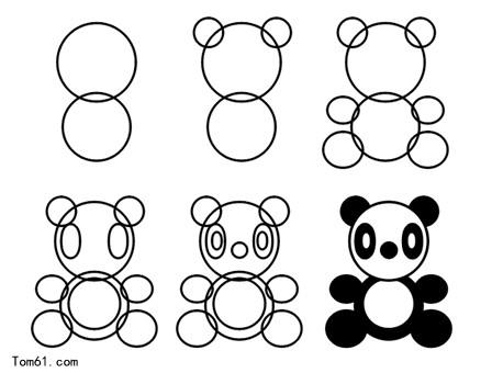 熊猫图片_简笔画图片_少儿图库