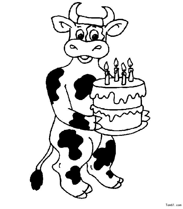 Kleurplaten Verjaardag 13 Jaar 牛图片 简笔画图片 少儿图库 中国儿童资源网