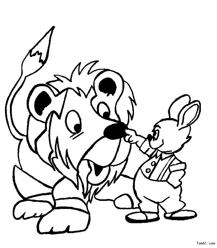 狮子-简笔画图片-中国儿童资源网