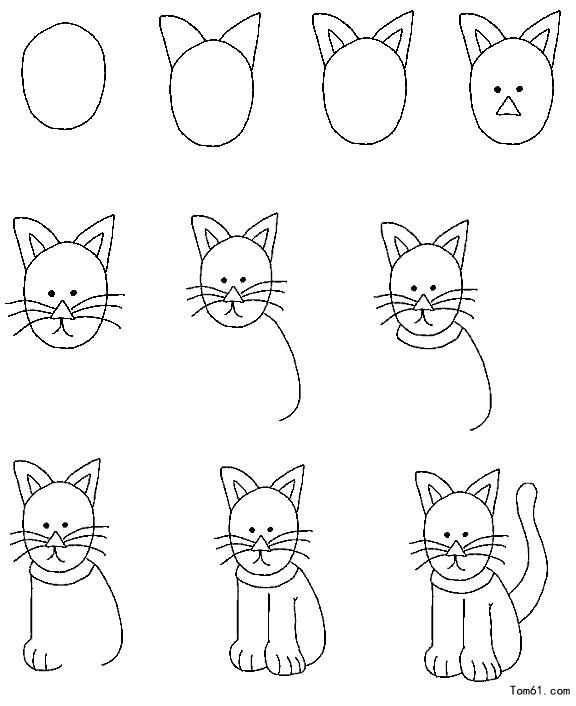 简笔画 猫