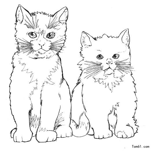 猫图片_简笔画图片_少儿图库_中国儿童资源网