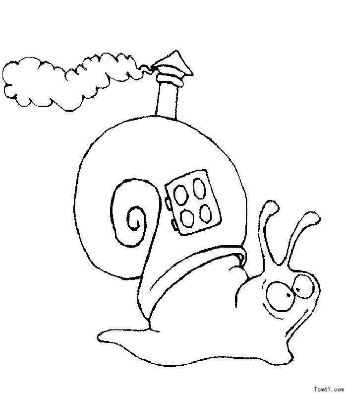 蜗牛图片_简笔画图片_少儿图库