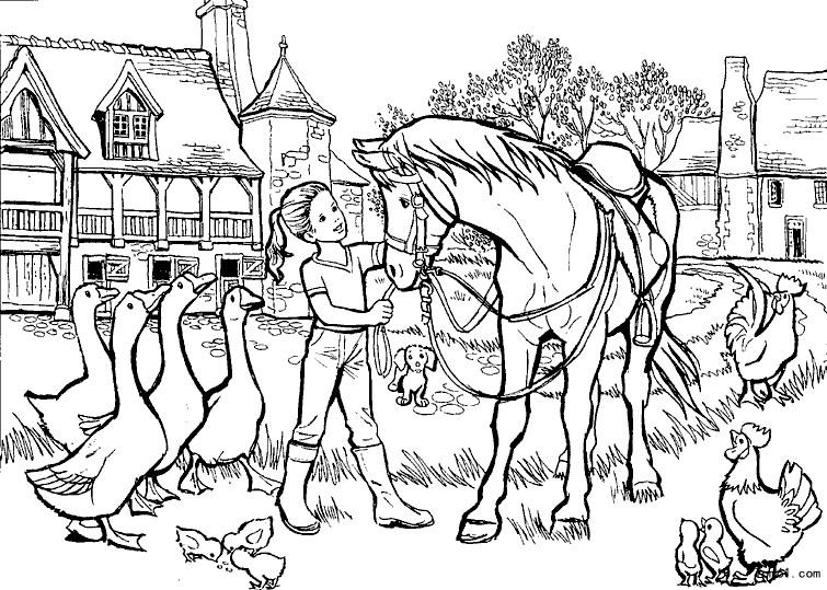 - Coloriage chevaux grand galop ...