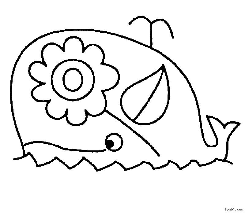 鲸鱼图片_简笔画图片_少儿图库