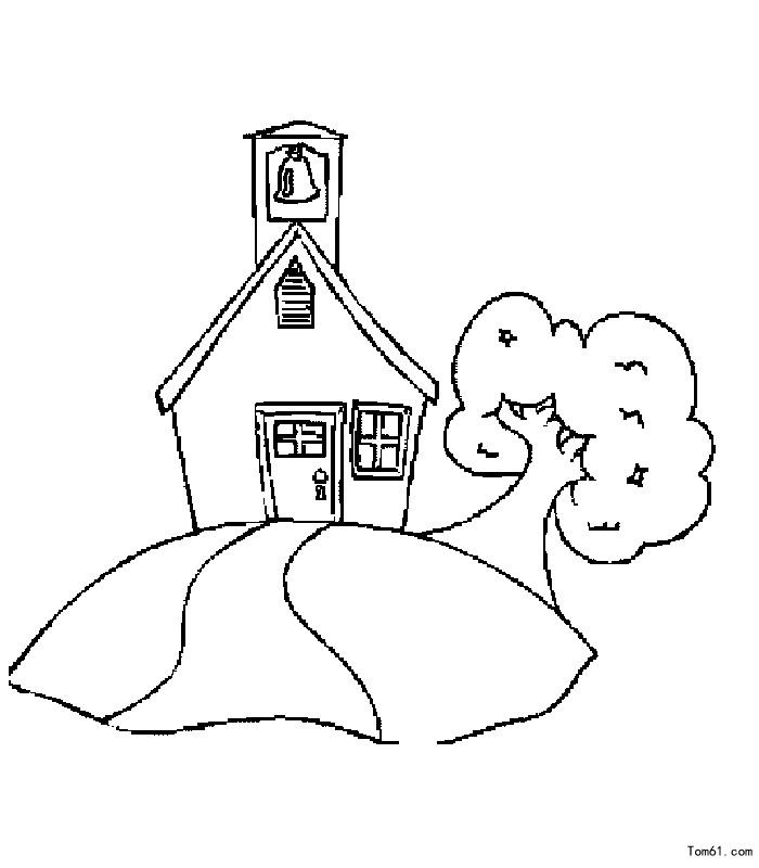 房子-简笔画图片-中国儿童资源网