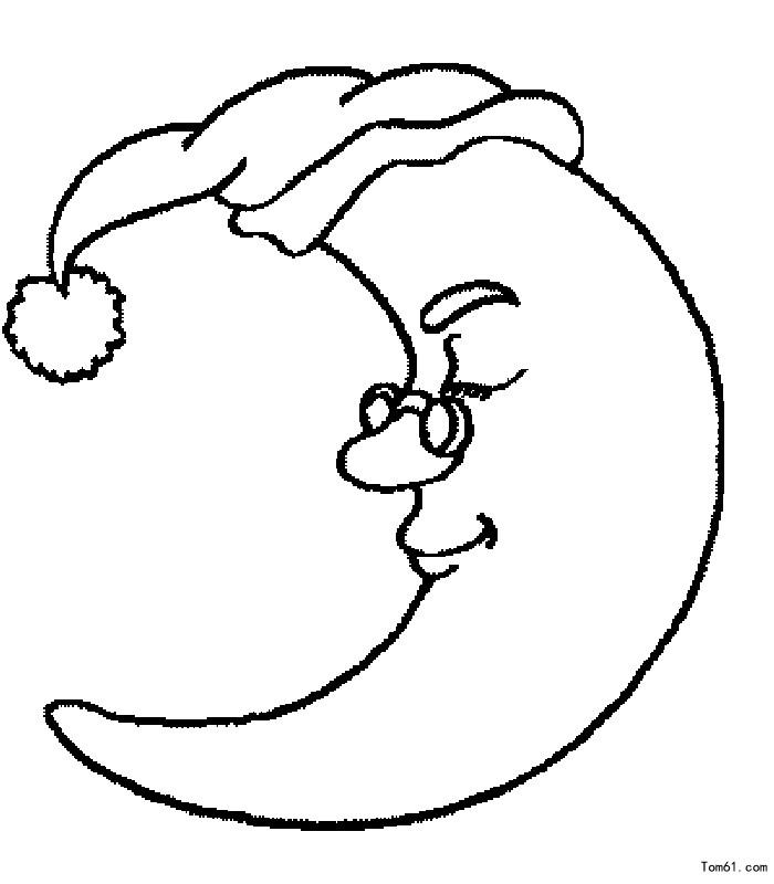 月亮图片_简笔画图片_少儿图库_中国儿童资源网