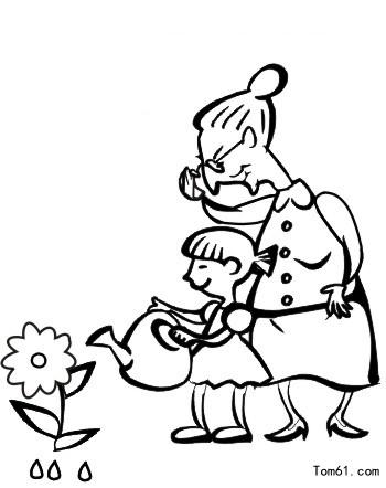 老人-简笔画图片-中国儿童资源网