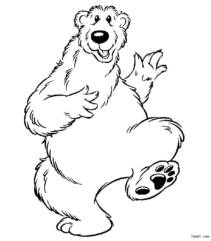 北极熊图片 简笔画图片 少儿图库 中国儿童资源网
