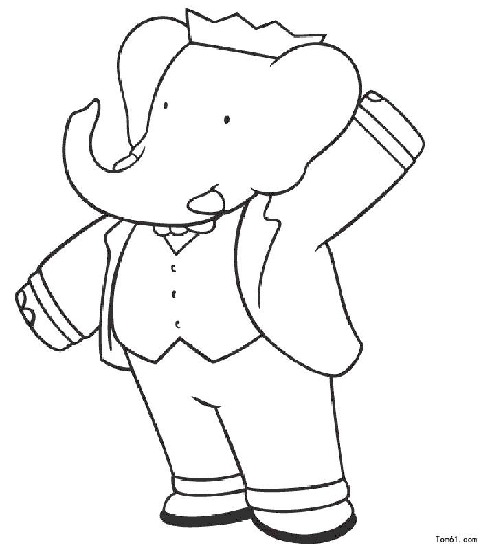 大象图片_简笔画图片_少儿图库