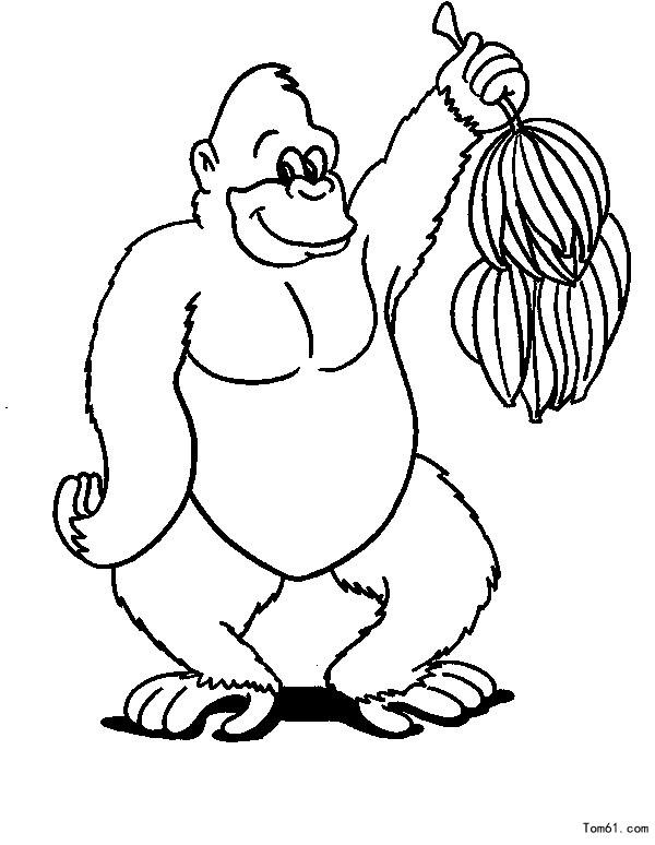 猴子圖片_簡筆畫圖片_少兒圖庫_中國兒童資源網