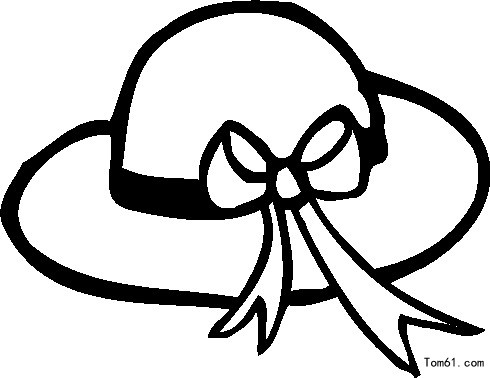 for Ladies hat coloring pages