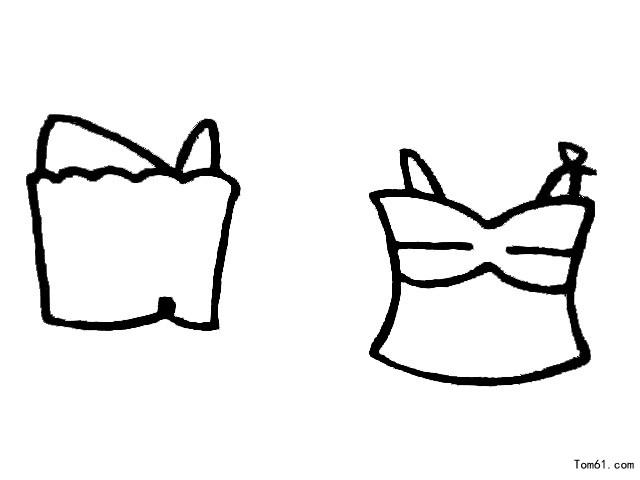 幼儿叠衣服步骤简笔画