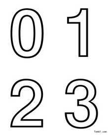 数字简笔画动物