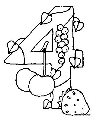 Cijfer 6 Kleurplaat 数字填色图片 简笔画图片 少儿图库 中国儿童资源网