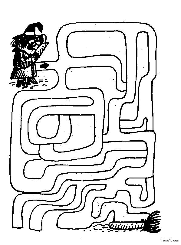 手绘简单迷宫图明