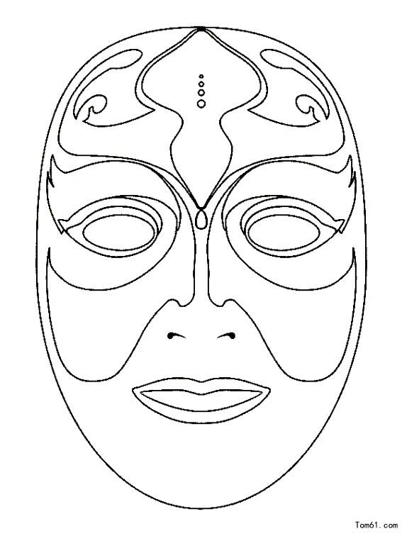 女士面具矢量图