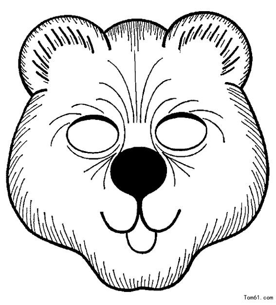 面具图片_简笔画图片_少儿图库_中国儿童资源网
