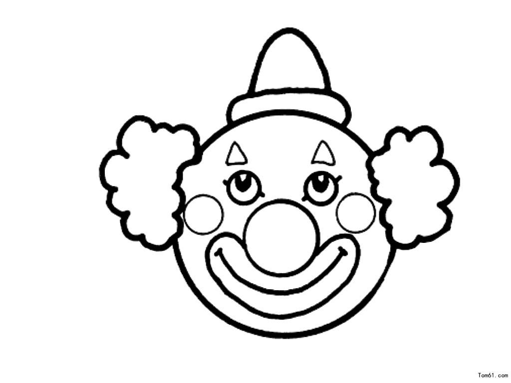小丑女手绘简单