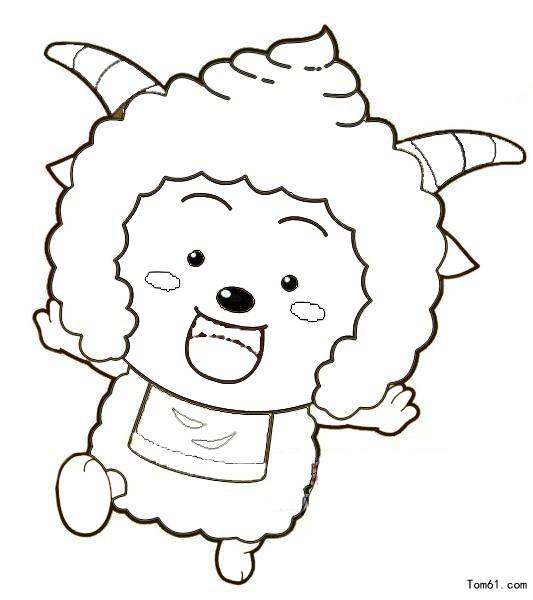 喜羊羊1图片_简笔画图片