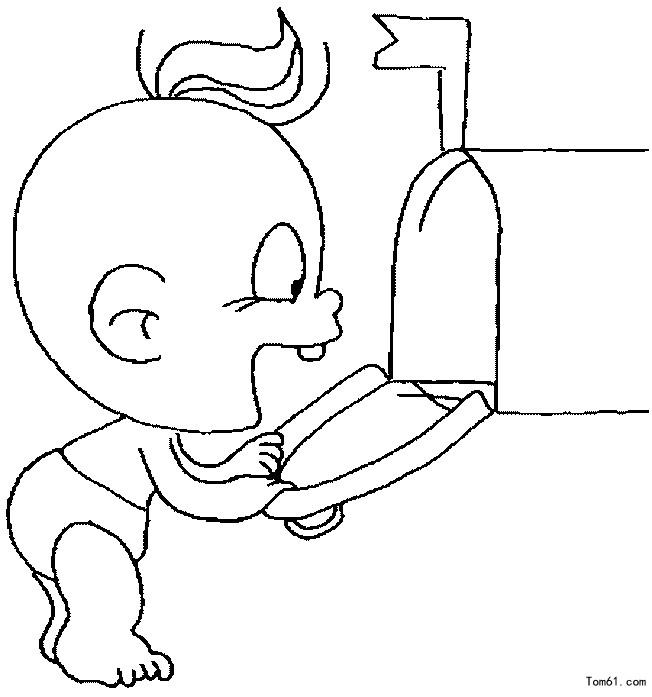 小宝宝7图片_简笔画图片