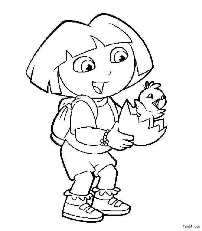 朵拉1-简笔画图片-中国儿童资源网