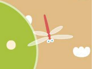 受冻的蜻蜓